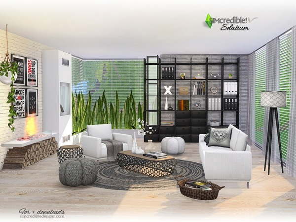 Solatium living room by SIMcredible at TSR image 1170 Sims 4 Updates
