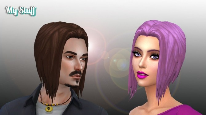 Sims 4 Night time Hair at My Stuff