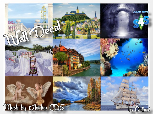 Sims 4 Wall Decals CBS by Oldbox at All 4 Sims