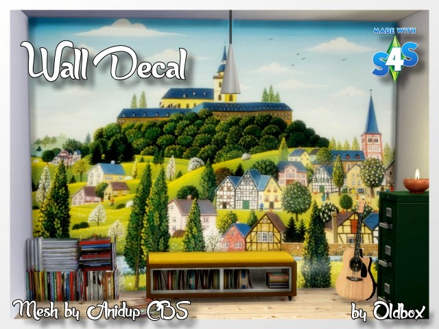 Wall Decals CBS by Oldbox at All 4 Sims image 1188 Sims 4 Updates