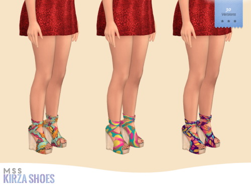 Sims 4 Kirza Shoes by midnightskysims at SimsWorkshop
