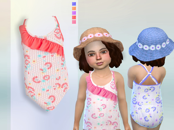 Sims 4 Swimsuit for toddlers by Puresim at TSR