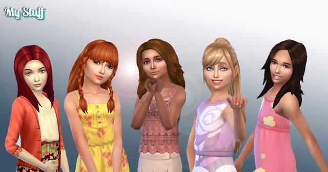 Sims 4 Girls Long Hair Pack 10 at My Stuff