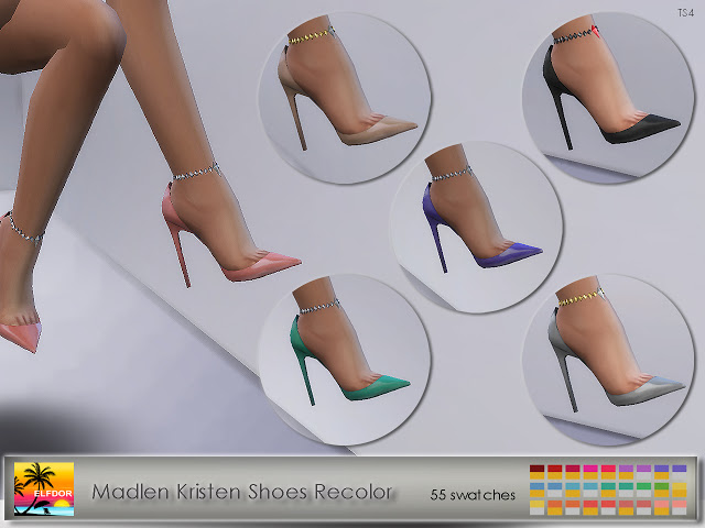 Madlen Kristen Shoes Recolor at Elfdor Sims image 12113 Sims 4 Updates
