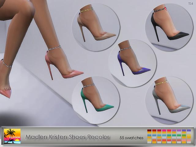 Sims 4 Madlen Kristen Shoes Recolor at Elfdor Sims