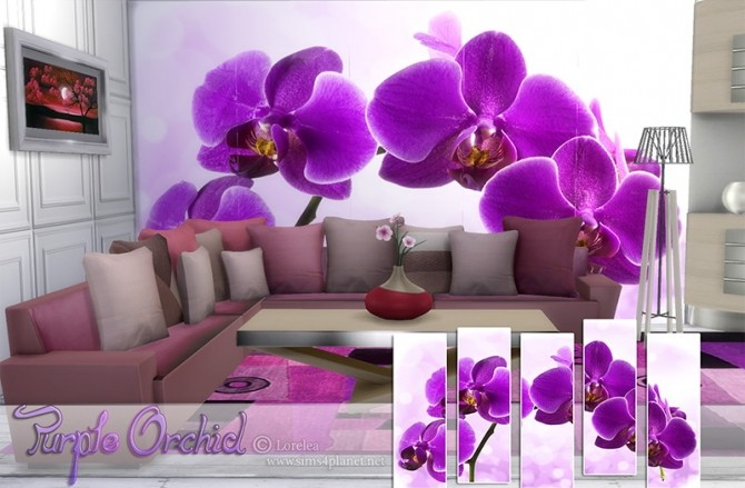 Purple Orchid wallpapers by lorelea at Anarchy Cat image 123 670x439 Sims 4 Updates