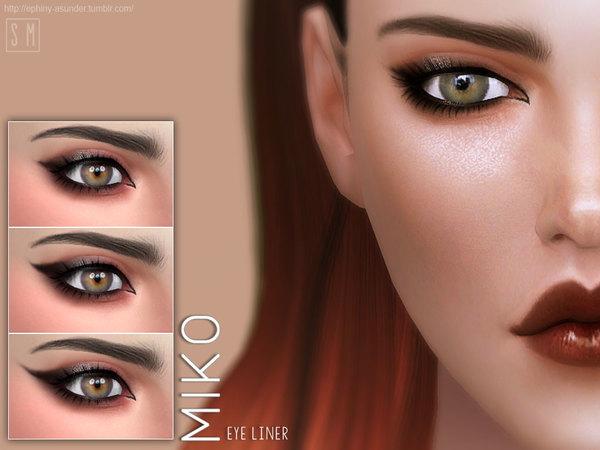 Miko Eyeliner by Screaming Mustard at TSR image 1230 Sims 4 Updates
