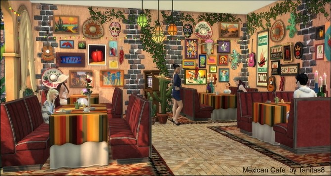 Mexican cafe and restaurant at Tanitas8 Sims image 1236 670x357 Sims 4 Updates
