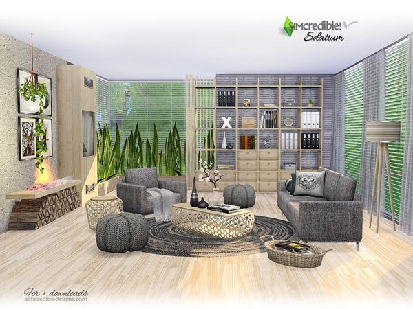Solatium living room by SIMcredible at TSR image 1240 Sims 4 Updates