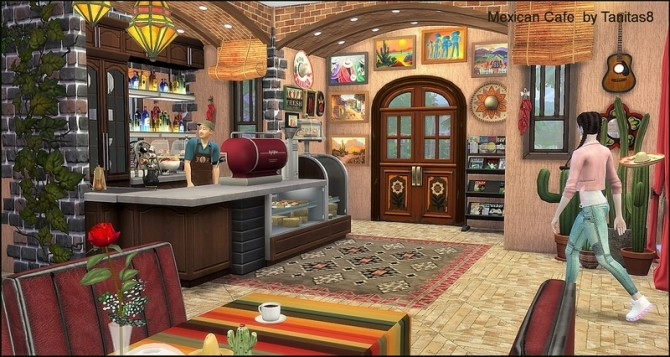 Mexican cafe and restaurant at Tanitas8 Sims image 1247 670x357 Sims 4 Updates