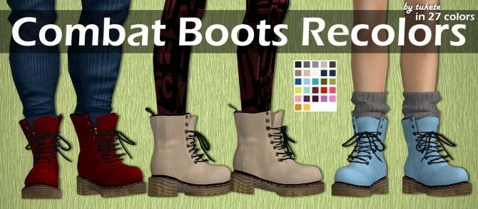 Combat Boots Recolors at Tukete image 12515 670x294 Sims 4 Updates