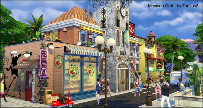 Mexican cafe and restaurant at Tanitas8 Sims image 1257 670x357 Sims 4 Updates