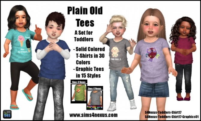 Plain Old Tees by SamanthaGump at Sims 4 Nexus image 1275 670x402 Sims 4 Updates