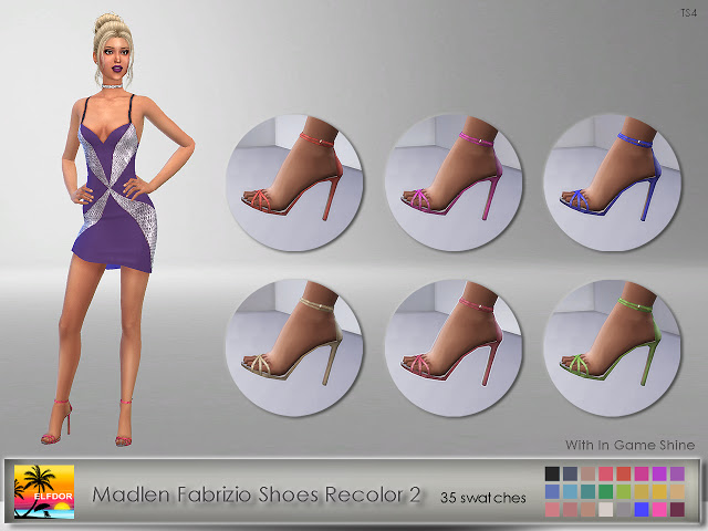Madlen Fabrizio Shoes Recolor 2 at Elfdor Sims image 13011 Sims 4 Updates
