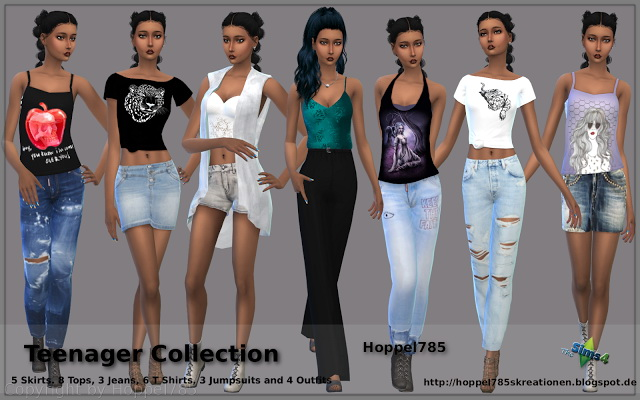 Teenager Collection at Hoppel785 image 1304 Sims 4 Updates