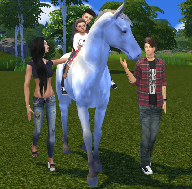 My Horse Family Pose 2 at Chaleara´s Sims 4 Poses image 1305 Sims 4 Updates