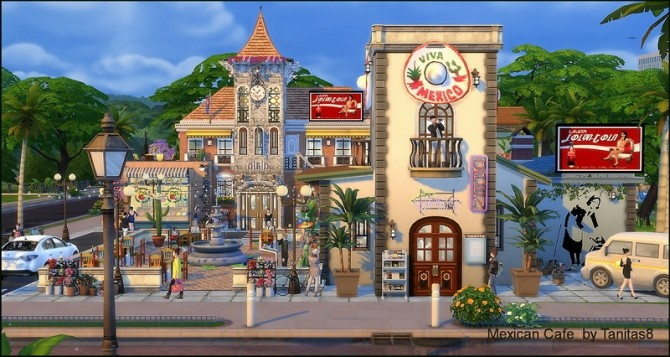 Mexican cafe and restaurant at Tanitas8 Sims image 1306 670x357 Sims 4 Updates