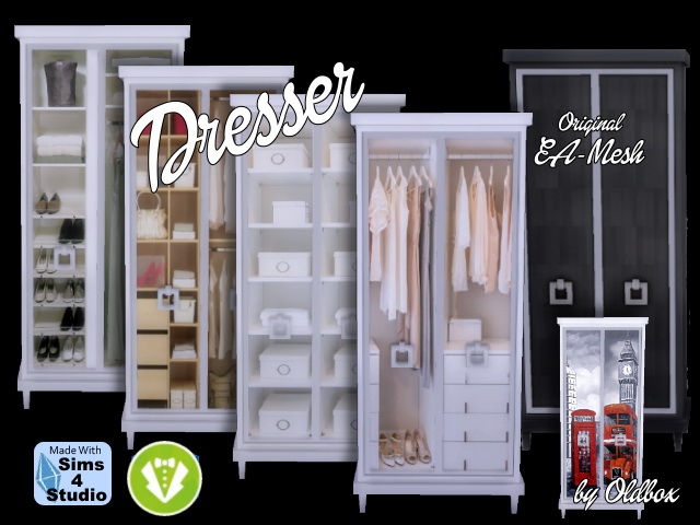 Dresser Vintage by Oldbox at All 4 Sims image 13117 Sims 4 Updates