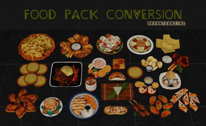 Food Pack Conversion S3 To S4 At Dream Team Sims 187 Sims