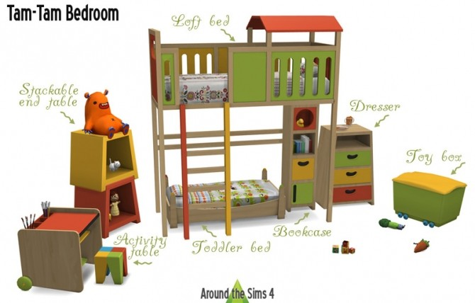 Tam Tam Kids Bedroom By Sandy At Around The Sims 4 Sims