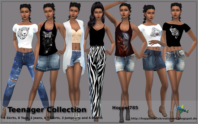 Teenager Collection at Hoppel785 image 1325 Sims 4 Updates