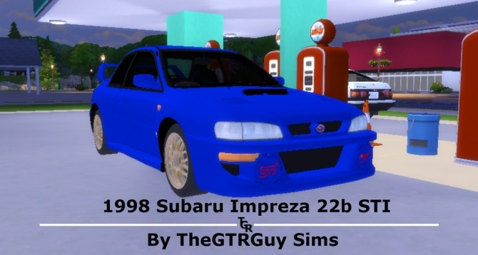 1998 Subaru Impreza 22b STi at TheGTRGuySims image 1327 670x358 Sims 4 Updates