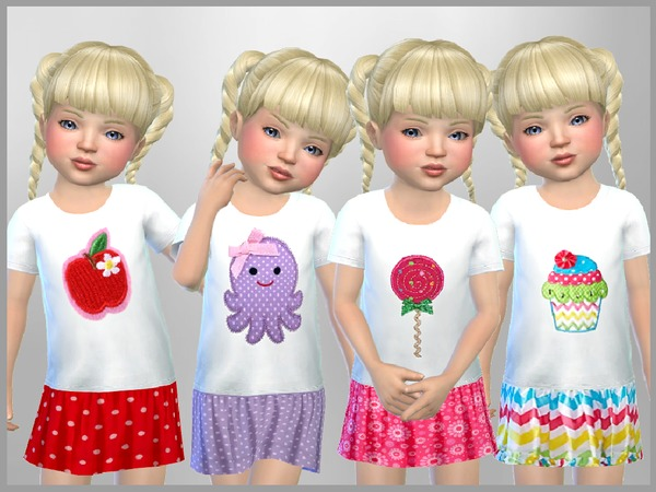 Sims 4 Isabella Toddler Full Outfit by SweetDreamsZzzzz at TSR