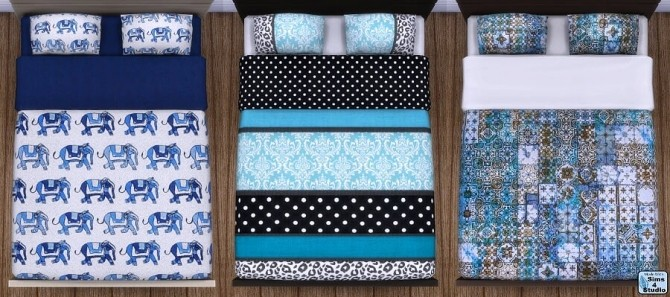 Sims 4 Chloe bedding by OM at Sims 4 Studio