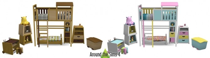 Tam Tam Kids Bedroom by Sandy at Around the Sims 4 image 1342 670x188 Sims 4 Updates