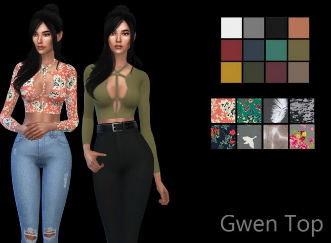Gwen Top at Leo Sims » Sims 4 Updates