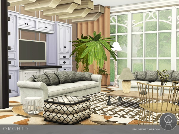 Sims 4 Orchid house by Pralinesims at TSR