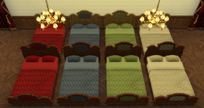 Sims 4 Boudoir Bedroom converted by TheJim07 at Mod The Sims