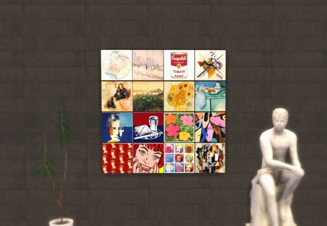 Famous Art as Easel paintings replacement at Asteria Sims image 141 670x463 Sims 4 Updates