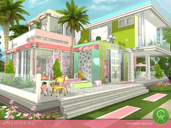 Unicorn House By Pralinesims At Tsr 187 Sims 4 Updates