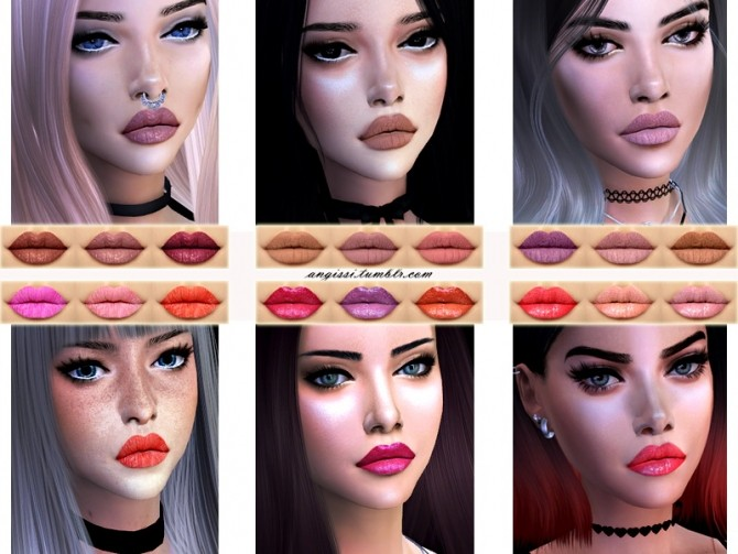 Lipstick Set #1 at Angissi image 1431 670x503 Sims 4 Updates