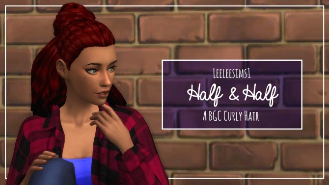 Half Up & Down Hair by leeleesims1 at SimsWorkshop image 14410 670x377 Sims 4 Updates