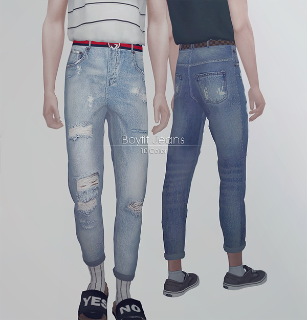 Roll up t shirts + fitted jeans at KK's Sims4 – ooobsooo image 1456 Sims 4 Updates