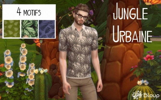 Sims 4 Jungle polos by Bloup at Sims Artists