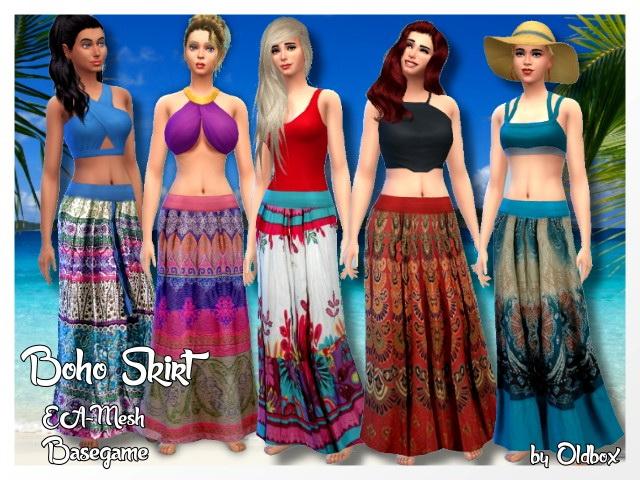 Sims 4 Boho Rock/Skirt by Oldbox at All 4 Sims