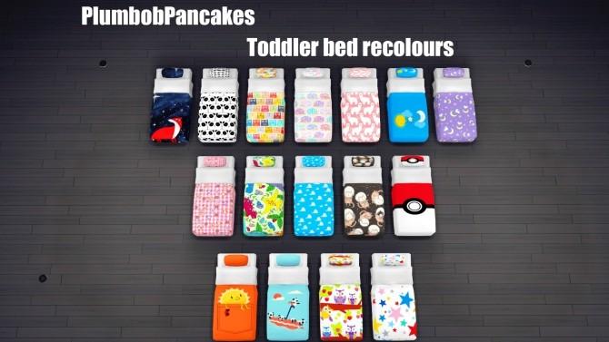 Sims 4 Toddler mattress recolours by Plumbobpancakes at SimsWorkshop