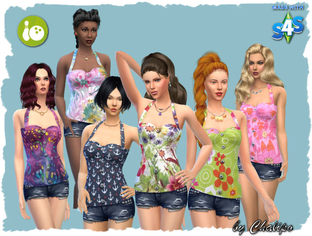 Sims 4 Bowling top by Chalipo at All 4 Sims