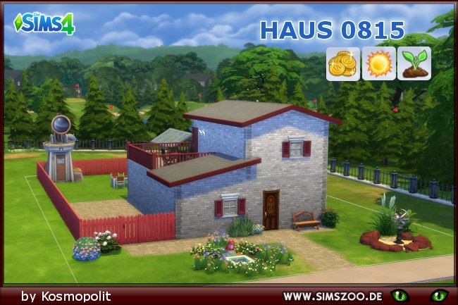 House 0815 by Kosmopolit at Blacky's Sims Zoo image 1485 Sims 4 Updates