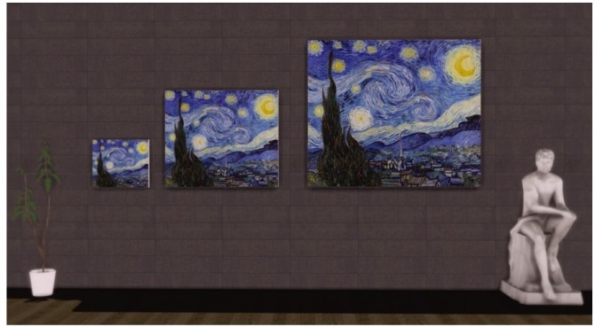 Famous Art as Easel paintings replacement at Asteria Sims image 150 670x369 Sims 4 Updates