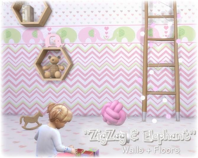 Walls + Floors ZigZag & Elephant at Helen Sims image 1527 670x536 Sims 4 Updates