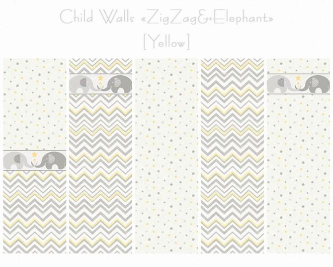 Walls + Floors ZigZag & Elephant at Helen Sims image 1536 670x536 Sims 4 Updates