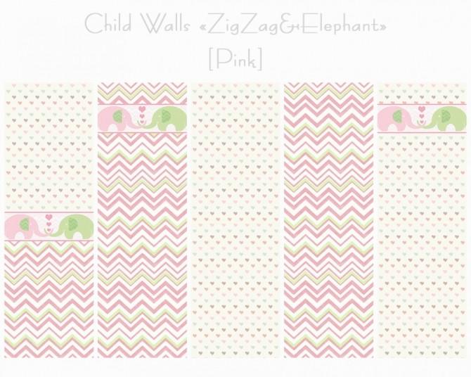 Walls + Floors ZigZag & Elephant at Helen Sims image 1546 670x536 Sims 4 Updates