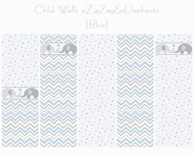 Walls + Floors ZigZag & Elephant at Helen Sims image 1556 670x536 Sims 4 Updates