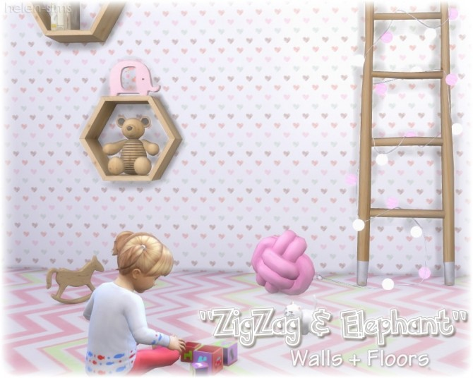 Walls + Floors ZigZag & Elephant at Helen Sims image 1574 670x536 Sims 4 Updates