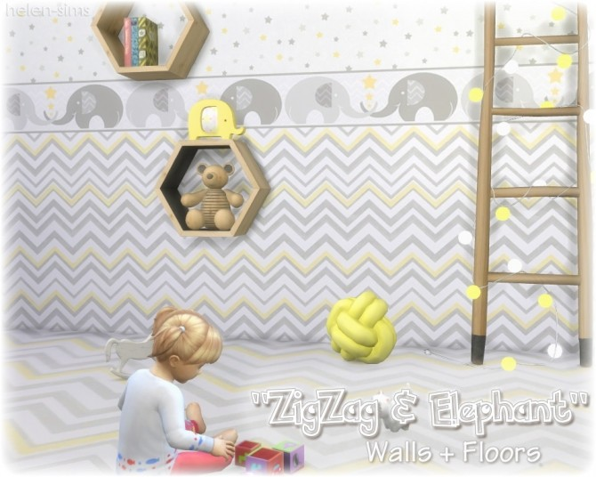Walls + Floors ZigZag & Elephant at Helen Sims image 1586 670x536 Sims 4 Updates