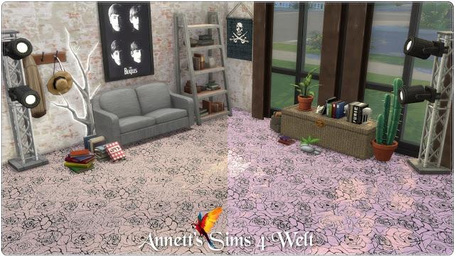 Sims 4 Rose carpet at Annett's Sims 4 Welt